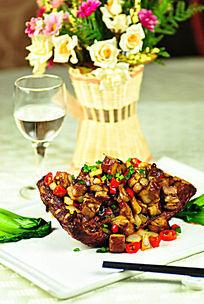 排骨炒肉菜品照片