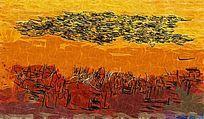 风景抽象油画