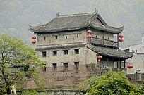 湖南湘西凤凰古城古建筑特写图片