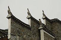湖南湘西凤凰古城古建筑外观特写