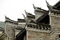 湖南湘西凤凰古城古建筑外观特写图片