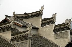 湖南湘西凤凰古城古建筑外观图