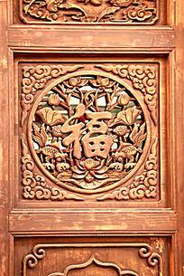 木门雕刻福字图案花纹