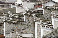 湘西凤凰古城古建筑外观特写图片