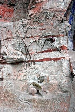 大足石刻猫鼠