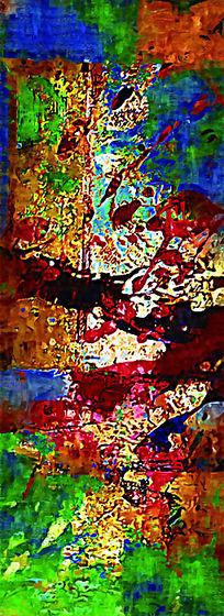 漂亮的现代抽象油画