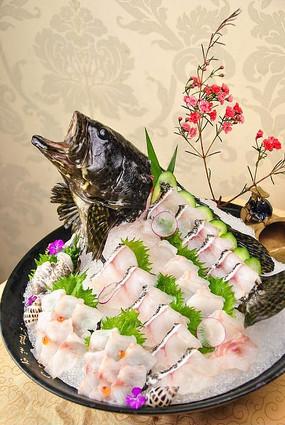 生鱼片菜肴近照