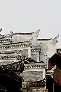 湖南湘西乾州古城古老建筑外观图片
