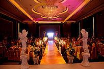 金色大气婚礼现场布置