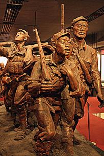 红军雕塑《父子去当兵》