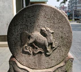 柳侯祠门礅石刻装饰图案