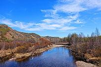 初春的森林河