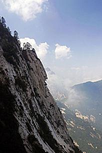 华山奇峰云雾迷漫