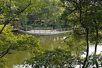 俯视中山公园游湖