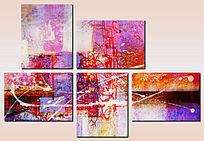 多联时尚抽象装饰画