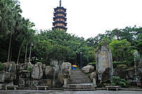 园林景观里的塔