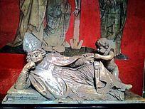 德国教堂的雕塑