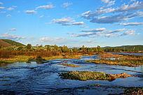 树林河流风景