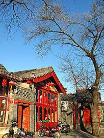什刹海边上的老北京建筑