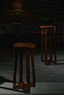 胡桃木长凳