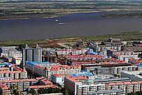 抚远县城建筑风光
