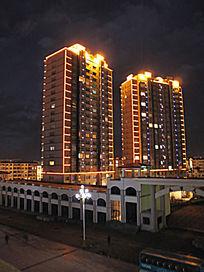 抚远县城夜景