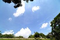 浩瀚天空白云