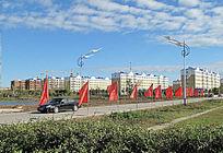 呼玛县城新建住宅楼