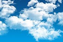 蓝色天空的白云