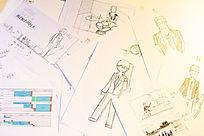 人物造型角色设计绘制手稿