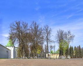 俄罗斯圣母安息大教堂广场石子路面