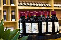 红酒卖场的拉菲红葡萄酒