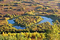 额尔古纳湿地秋湖