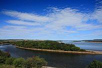 黑龙江上的江心岛
