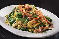 虾干韭香炒土鸡蛋
