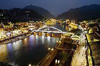 湖南 凤凰古城景区景点夜景特写图片