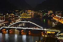 湖南 凤凰古城景区景点夜景图片