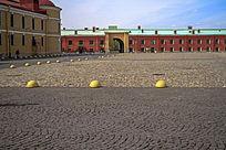 欧式石子路广场