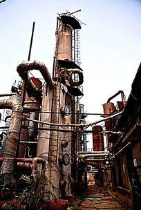 废弃的企业工厂化工生产设备