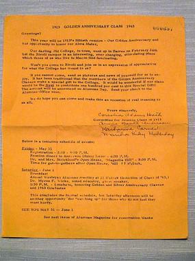 1963年威斯里安学院邀请宋庆龄的函