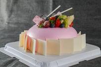 白色巧克力片蛋糕