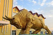 拓荒牛雕塑