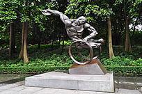 残疾人铜雕