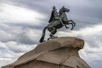 彼得大帝青铜骑士雕塑