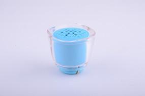 蓝色花朵半透明苹果Iphone手机蓝牙小音箱