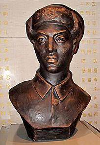 志愿军战斗英雄李家发雕像