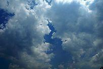 高清拍摄厚重的蓝天白云素材