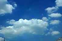 天空的蓝天白云实拍素材