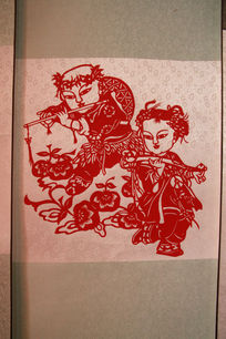 中国传统图案剪纸图片