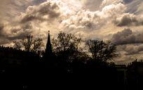 红场墓园黄昏